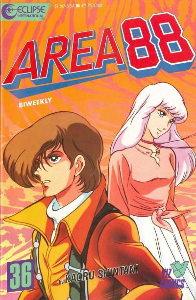 Cover for Area 88 (Eclipse; Viz, 1987 series) #36