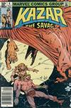 Cover for Ka-Zar the Savage (Marvel, 1981 series) #6 [Newsstand]