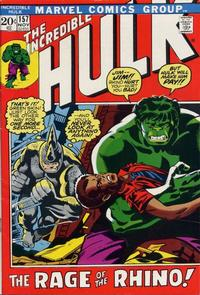 Cover Thumbnail for The Incredible Hulk (Marvel, 1968 series) #157