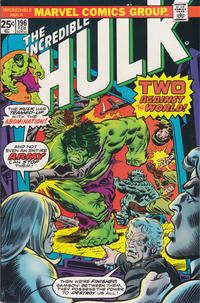 Cover Thumbnail for The Incredible Hulk (Marvel, 1968 series) #196 [Regular Edition]