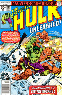 Cover Thumbnail for The Incredible Hulk (Marvel, 1968 series) #216 [30 cent cover price]