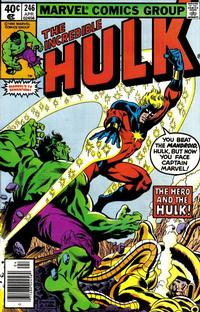 Cover Thumbnail for The Incredible Hulk (Marvel, 1968 series) #246 [Newsstand Edition]