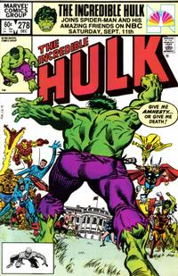 Cover Thumbnail for The Incredible Hulk (Marvel, 1968 series) #278 [Direct]