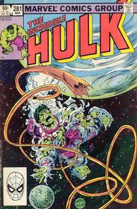 Cover Thumbnail for The Incredible Hulk (Marvel, 1968 series) #281