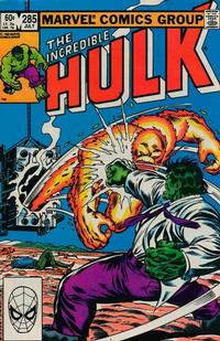 Cover Thumbnail for The Incredible Hulk (Marvel, 1968 series) #285