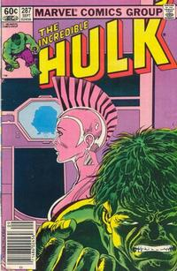 Cover for The Incredible Hulk (Marvel, 1968 series) #287 [Direct Edition]
