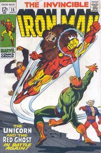 Cover Thumbnail for Iron Man (Marvel, 1968 series) #15 [Regular Edition]