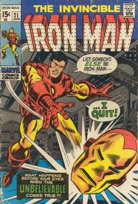 Cover Thumbnail for Iron Man (Marvel, 1968 series) #21 [Regular Edition]
