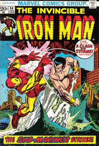 Cover Thumbnail for Iron Man (Marvel, 1968 series) #54 [Regular Edition]