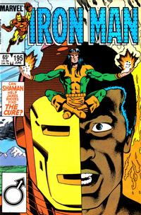 Cover for Iron Man (Marvel, 1968 series) #195 [Direct Edition]