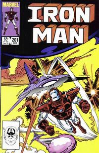 Cover Thumbnail for Iron Man (Marvel, 1968 series) #201 [Direct Edition]