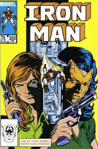 Cover Thumbnail for Iron Man (Marvel, 1968 series) #203 [Direct]