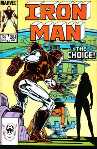 Cover for Iron Man (Marvel, 1968 series) #204 [Direct Edition]