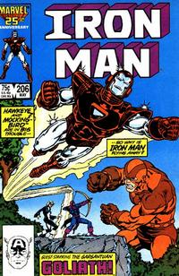 Cover Thumbnail for Iron Man (Marvel, 1968 series) #206 [Direct Edition]