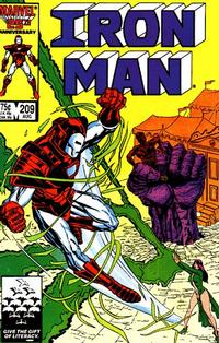 Cover for Iron Man (Marvel, 1968 series) #209 [Direct Edition]