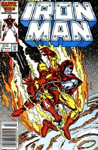Cover Thumbnail for Iron Man (Marvel, 1968 series) #216 [Newsstand Edition]