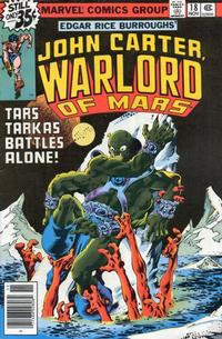 Cover Thumbnail for John Carter Warlord of Mars (Marvel, 1977 series) #18