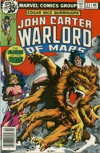 Cover Thumbnail for John Carter Warlord of Mars (Marvel, 1977 series) #21
