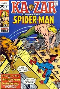 Cover Thumbnail for Ka-Zar (Marvel, 1970 series) #3