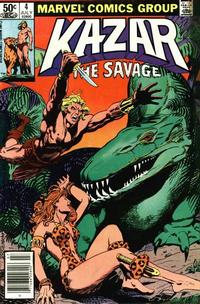 Cover Thumbnail for Ka-Zar the Savage (Marvel, 1981 series) #4 [Newsstand Edition]