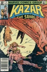 Cover Thumbnail for Ka-Zar the Savage (Marvel, 1981 series) #6 [Newsstand Edition]