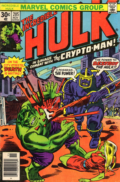 Cover for The Incredible Hulk (Marvel, 1968 series) #205