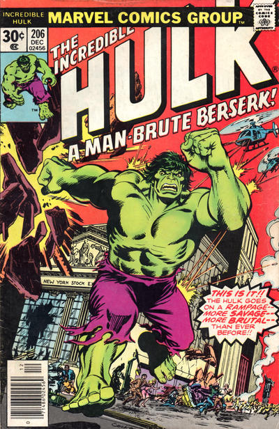 Cover for The Incredible Hulk (Marvel, 1968 series) #206