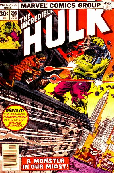 Cover for The Incredible Hulk (Marvel, 1968 series) #208 [Regular Edition]