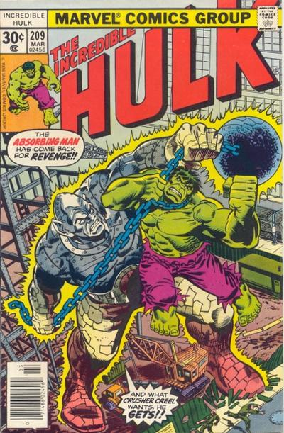 Cover for The Incredible Hulk (Marvel, 1968 series) #209