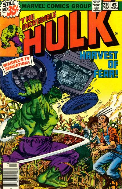 Cover for The Incredible Hulk (Marvel, 1968 series) #230