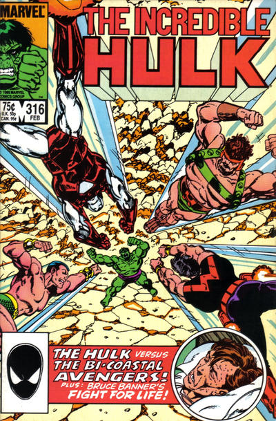 Cover for The Incredible Hulk (Marvel, 1968 series) #316 [Direct]