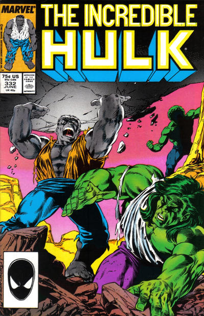 Cover for The Incredible Hulk (Marvel, 1968 series) #332 [Direct]