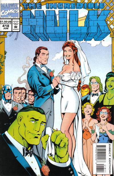 Cover for The Incredible Hulk (Marvel, 1968 series) #418 [Direct Edition]