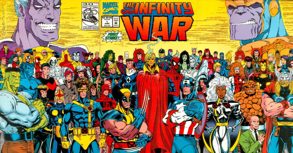 Cover for The Infinity War (Marvel, 1992 series) #1 [Direct]