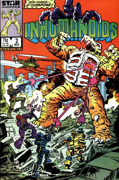 Cover for The Inhumanoids (Marvel, 1987 series) #2