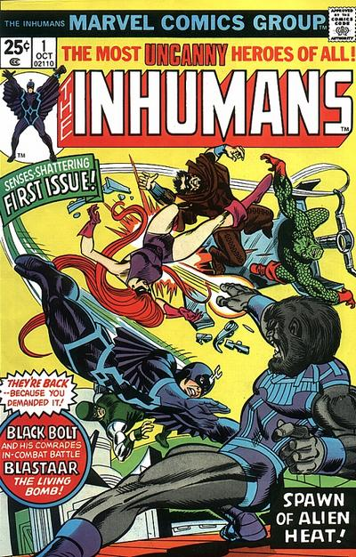 Cover for The Inhumans (Marvel, 1975 series) #1 [British Price Variant]