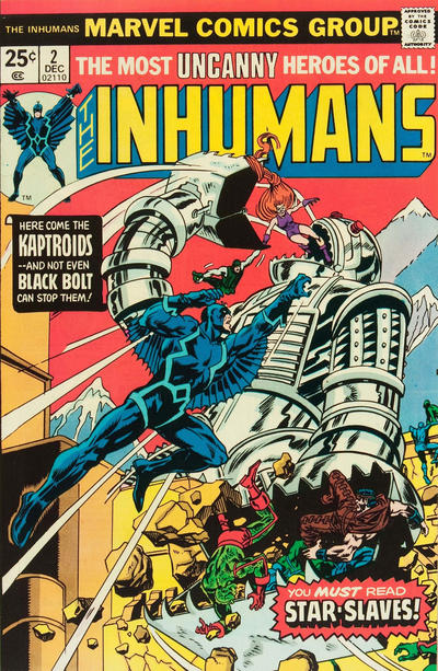 Cover for The Inhumans (Marvel, 1975 series) #2 [British]