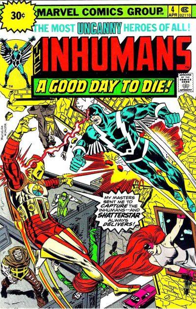 Cover for The Inhumans (Marvel, 1975 series) #4 [British]