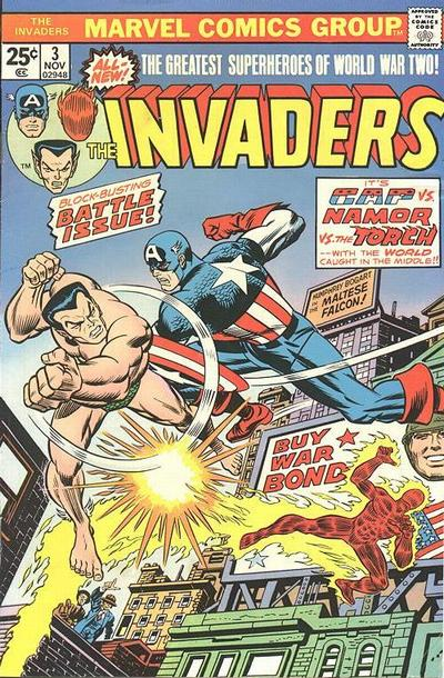 Cover for The Invaders (Marvel, 1975 series) #3 [Regular Edition]