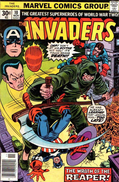 Cover for The Invaders (Marvel, 1975 series) #10 [Regular Edition]