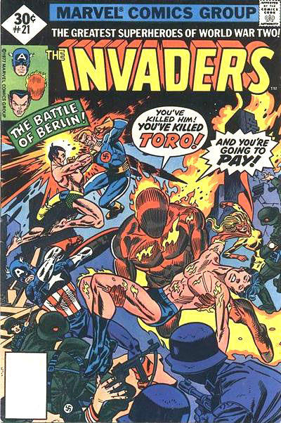 Cover for The Invaders (Marvel, 1975 series) #21