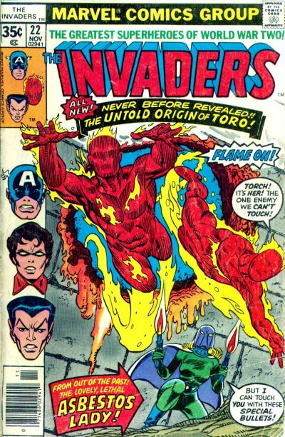 Cover for The Invaders (Marvel, 1975 series) #22