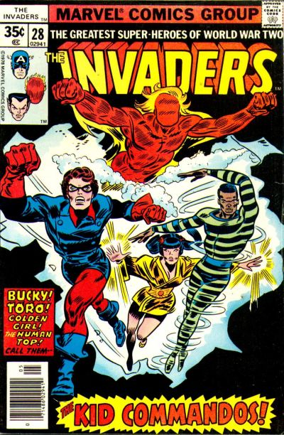 Cover for The Invaders (Marvel, 1975 series) #28