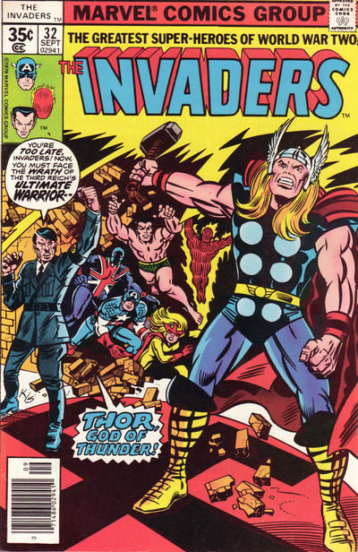 Cover for The Invaders (Marvel, 1975 series) #32