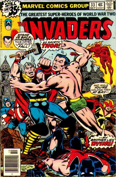 Cover for The Invaders (Marvel, 1975 series) #33 [Regular Edition]