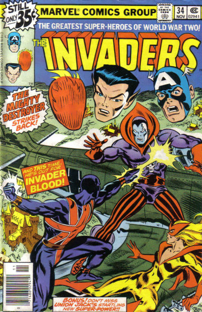 Cover for The Invaders (Marvel, 1975 series) #34 [Regular Edition]