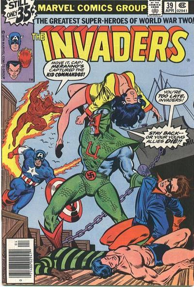 Cover for The Invaders (Marvel, 1975 series) #39 [Regular Edition]