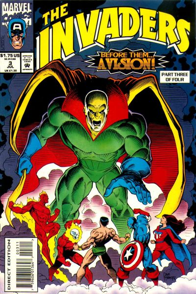 Cover for The Invaders (Marvel, 1993 series) #3