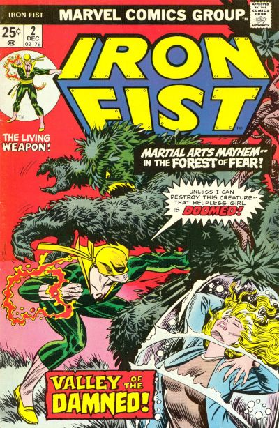 Cover for Iron Fist (Marvel, 1975 series) #2