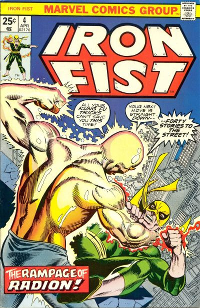 Cover for Iron Fist (Marvel, 1975 series) #4 [British Price Variant]
